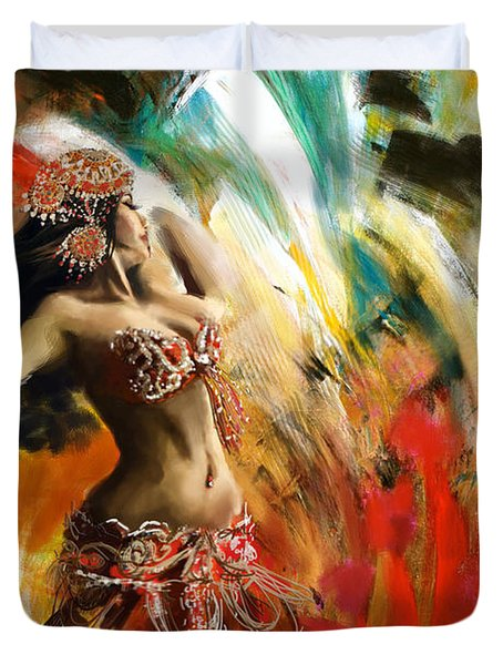 Abstract Belly Dancer 19 Duvet Cover by Corporate Art Task Force