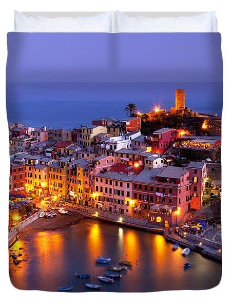 Cinque Terre Duvet Cover by Brian Jannsen