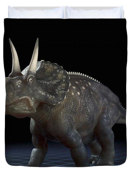 Dinosaur Diceratops Duvet Cover