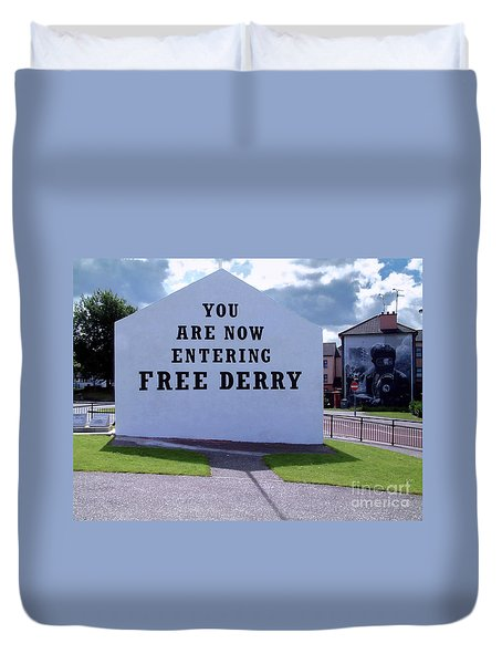 Free Derry Corner 4 Duvet Cover