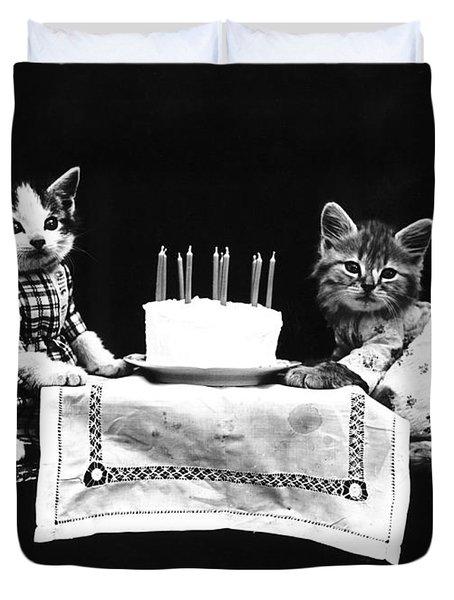 Frees Kittens, C1914 Duvet Cover