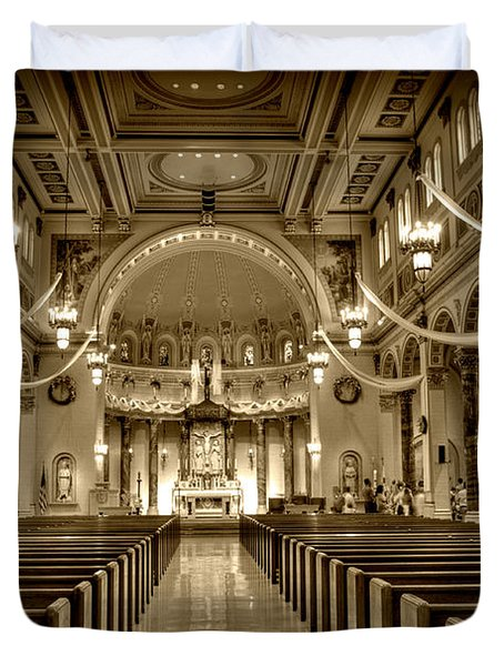 Holy Cross Catholic Church Duvet Cover