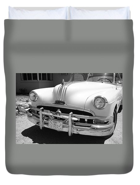 Route 66 - Classic Car Duvet Cover by Frank Romeo