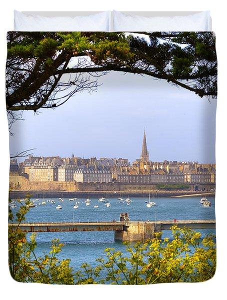 Saint-malo - Brittany Duvet Cover by Joana Kruse