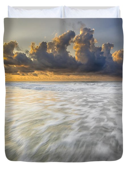 Sunrise On Hilton Head Island Duvet Cover by Peter Lakomy