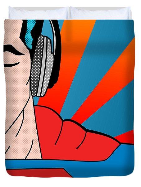 Superman  Duvet Cover by Mark Ashkenazi
