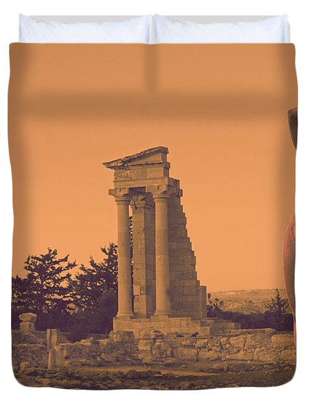 Temple Of Apollo  Duvet Cover by Augusta Stylianou