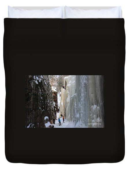 The Flume Gorge Nh Duvet Cover