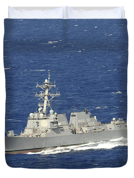 The Guided-missile Destroyer Uss Duvet Cover