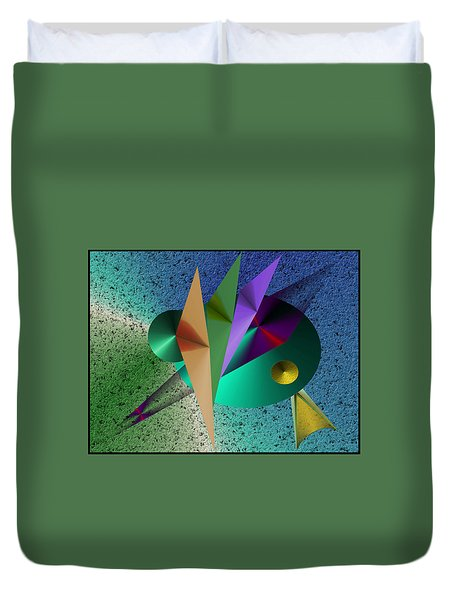 Abstract Bird Of Paradise Duvet Cover