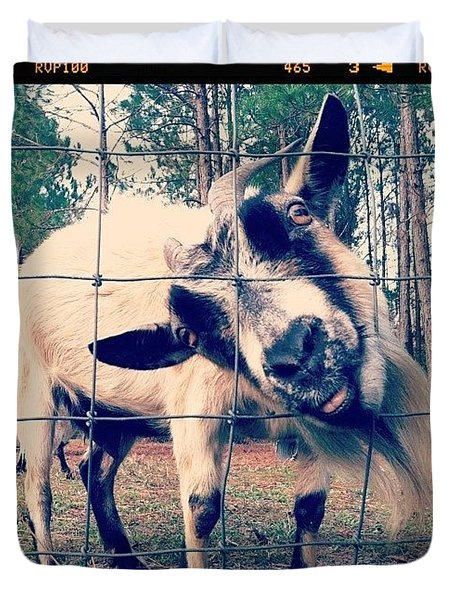 Happy Goats Duvet Cover