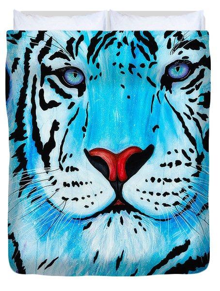 Blue Bengal Duvet Cover