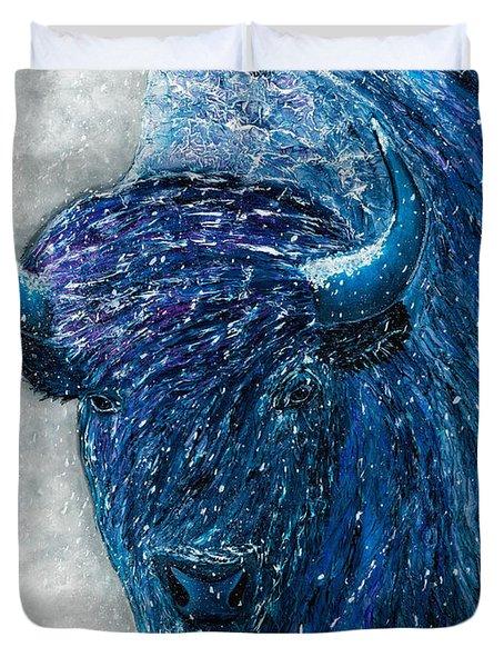 Buffalo  - Ready For Winter Duvet Cover