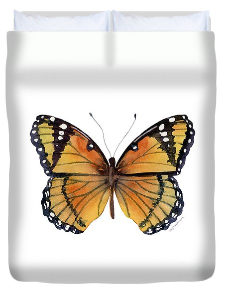 76 Viceroy Butterfly Duvet Cover by Amy Kirkpatrick