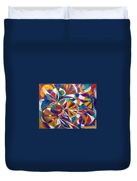 7th Chakra Meditation Duvet Cover