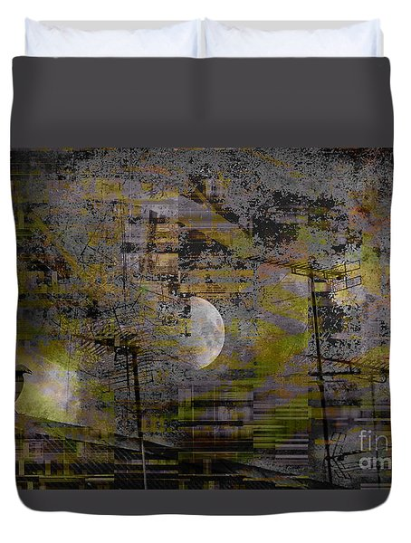 Duvet Cover featuring the digital art What Is Real Is Not The Exterior But The Idea, The Essence Of Things.  by Danica Radman