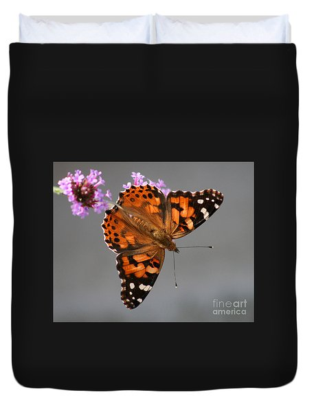 American Painted Lady Butterfly Duvet Cover