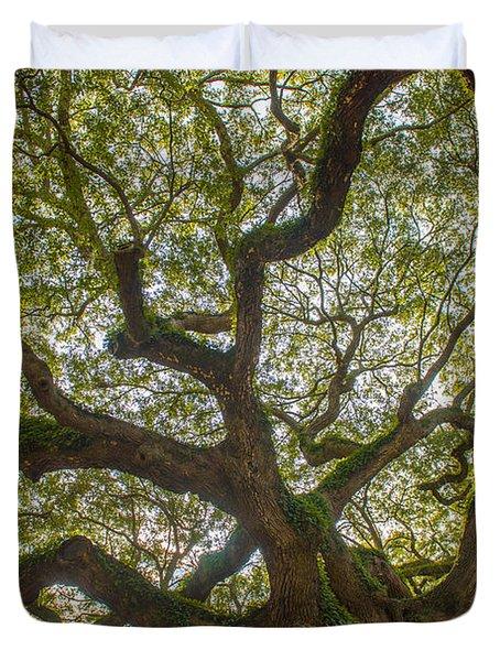 Island Angel Oak Tree Duvet Cover