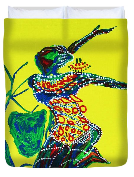 Dinka Dance - South Sudan Duvet Cover by Gloria Ssali