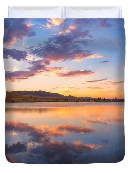 8 Dollar Sunset Duvet Cover