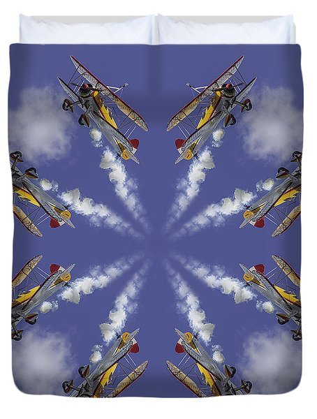 8 Planes Duvet Cover by Jerry Fornarotto