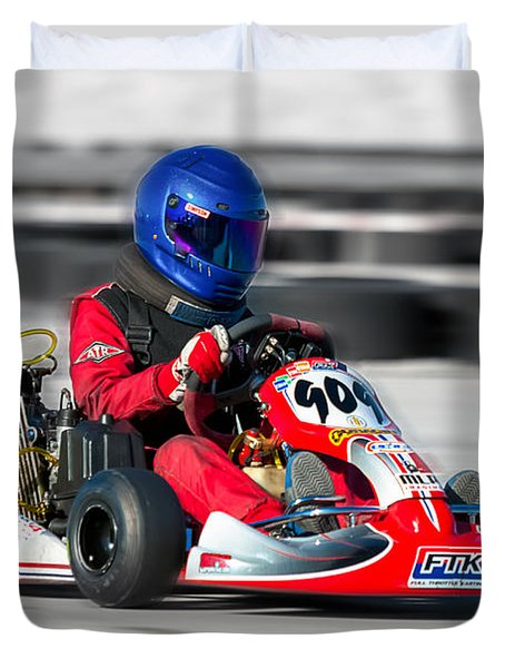 Racing Go Kart Duvet Cover