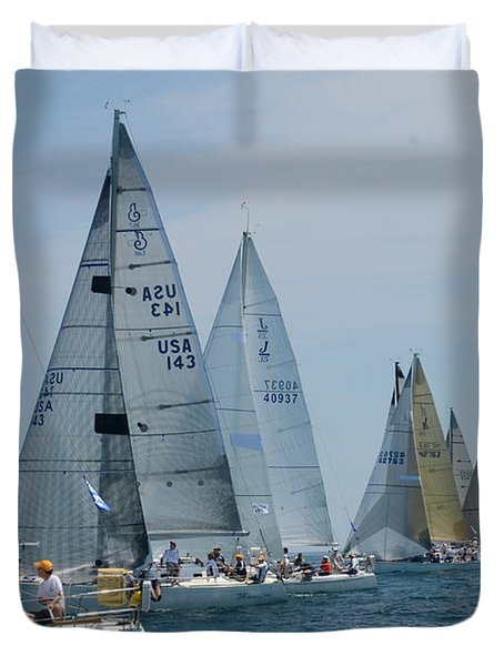 Sailboat Race Duvet Cover