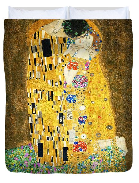 The Kiss Duvet Cover by Gustav Klimt