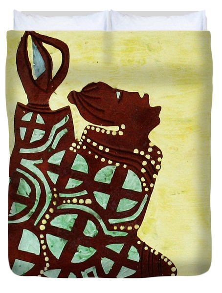 The Wise Virgin Duvet Cover by Gloria Ssali