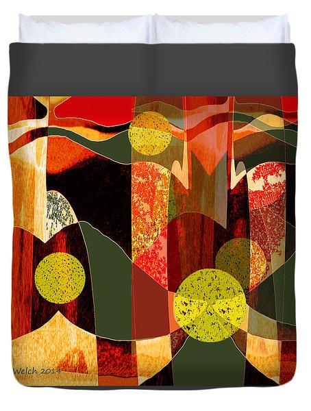 807 - Walk Through The Autumn Forest Duvet Cover
