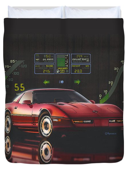 84 Corvette Duvet Cover