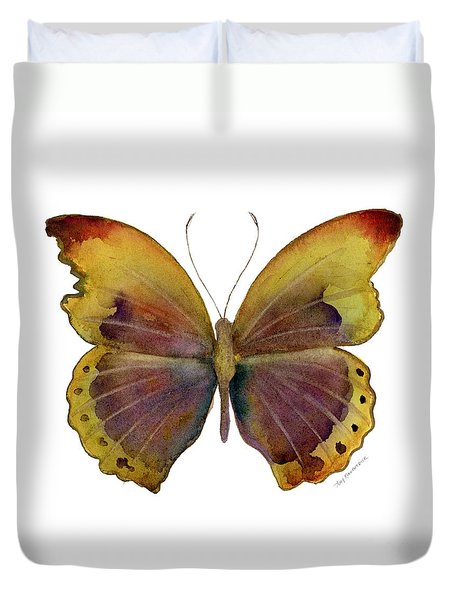 84 Gold-banded Glider Butterfly Duvet Cover