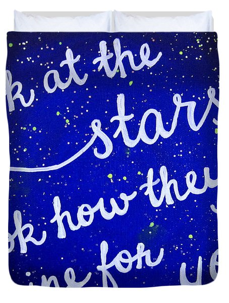 8x10 Look At The Stars Duvet Cover
