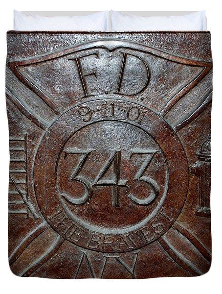 9 11 01 F D N Y 343 Duvet Cover