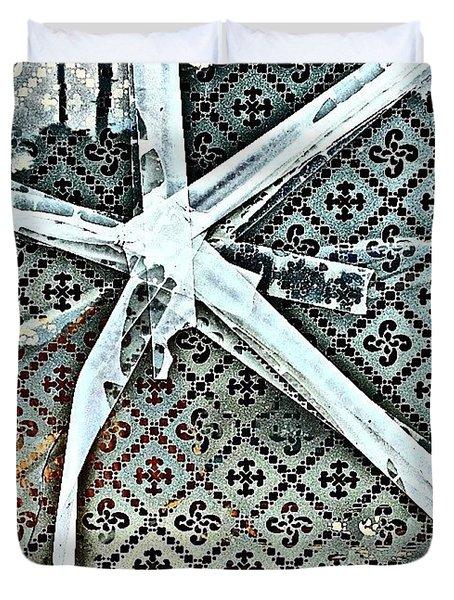 Broken Window Duvet Cover by Jason Michael Roust