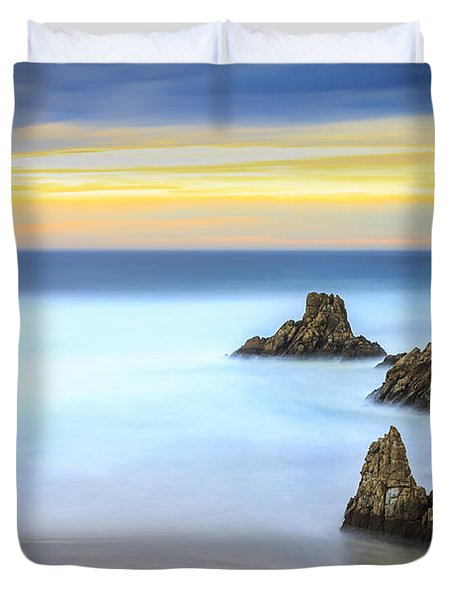 Campelo Beach Galicia Spain Duvet Cover by Pablo Avanzini
