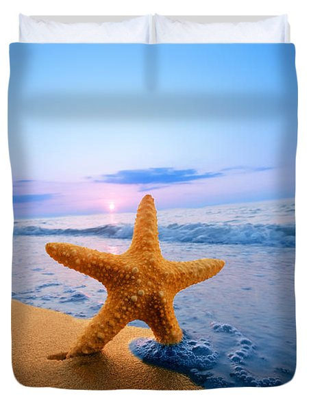 Starfish Duvet Cover by Michal Bednarek