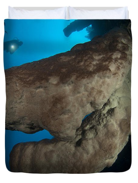 The Salvador Dali Sponge With Intricate Duvet Cover by Steve Jones
