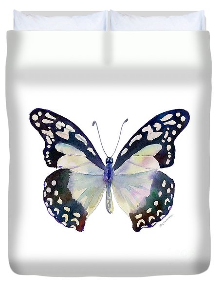 90 Angola White Lady Butterfly Duvet Cover