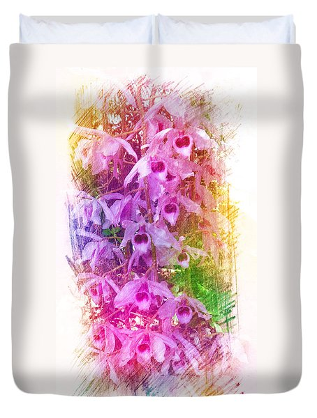 Fantastic Orchids Duvet Cover