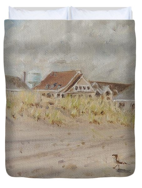 98th Street Beach Stone Harbor New Jersey Duvet Cover by Patty Kay Hall