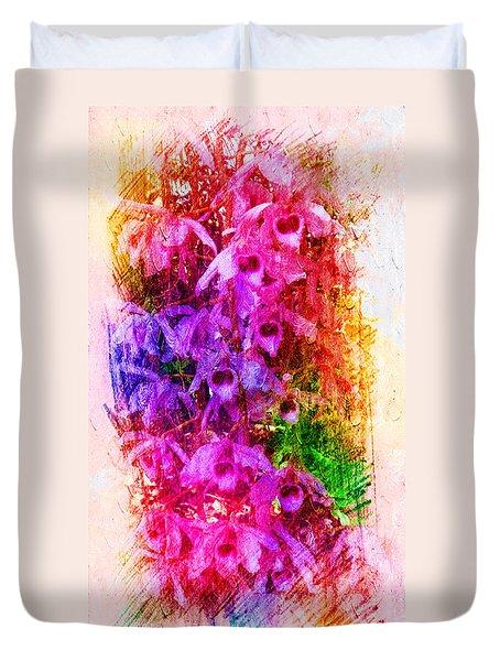 Gorgeous Orchids Duvet Cover