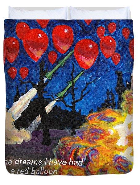 99 Red Balloons Duvet Cover