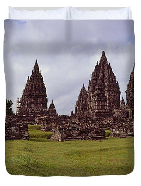 9th Century Hindu Temple Prambanan Duvet Cover