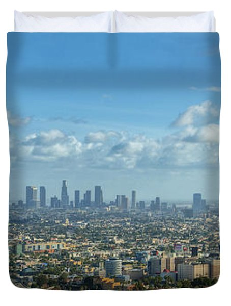 A 10 Day In Los Angeles Duvet Cover by David Zanzinger