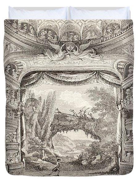 A 1789 Performance In The Theatre Des Varietes Amusantes Duvet Cover