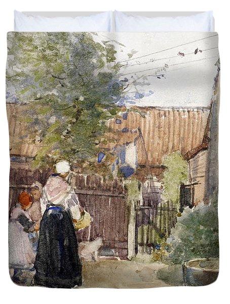 A Back Garden Berck Sur Mer Duvet Cover by Patty Townsend Johnson