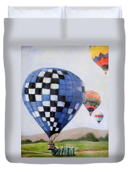 A Balloon Disaster Duvet Cover