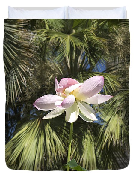 A Balmy Lotus Flower Duvet Cover