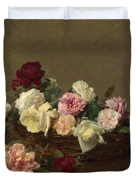 A Basket Of Roses Duvet Cover